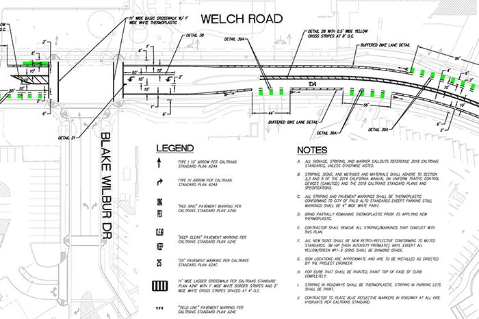 a1_sizing_transportation_Welch Road -Traffic Schematic