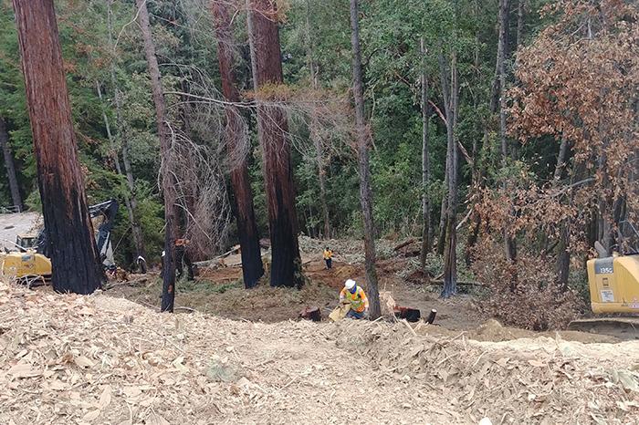 Water- SLVWD Fire Damage Hillside