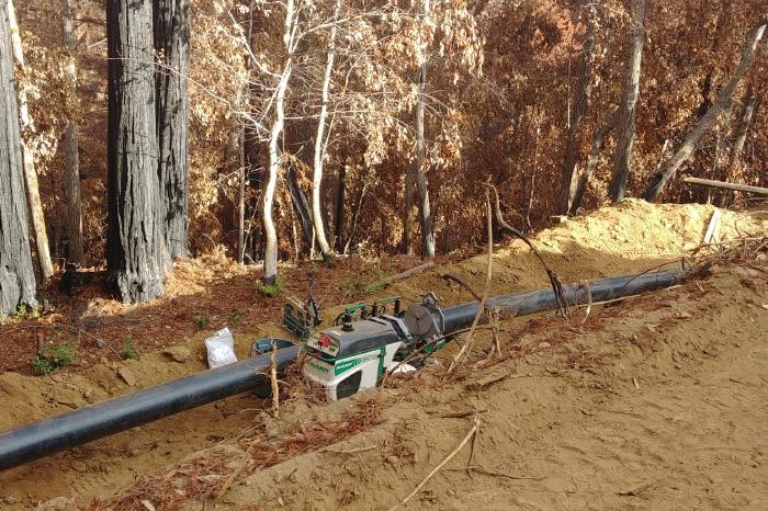 Water- San Lorenzo Valley Water-Piping Device