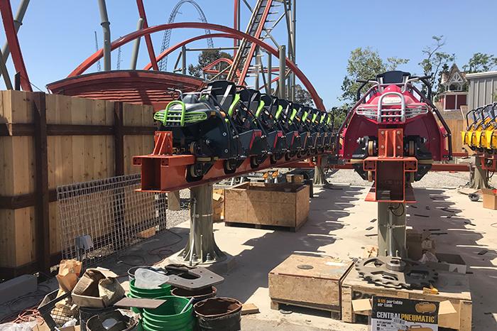 Great America_Coaster Construction